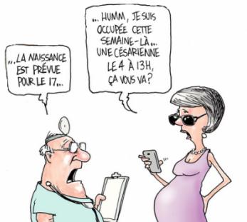 cartoon césarienne